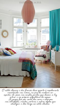 For people who rent or want white walls this is a good way to incorporate color to a room.