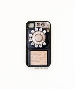 Payphone iPhone 4 Case  Silicone Lined Tough by onyourcasestore, $34.99