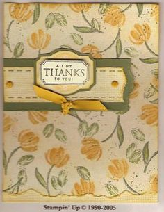 I neeeded a simple card as my third Make 'n Take for a recent class.  I had admired a gift box using Watercolor Minis that used these colors in the Idea Book and Catalog.  I also wanted to use my Designer Label Punch Box.