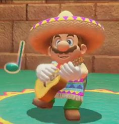 I'm mexican and I'm deeply offended by this new Mario Odyssey. - You can't play the guitar with gloves!!