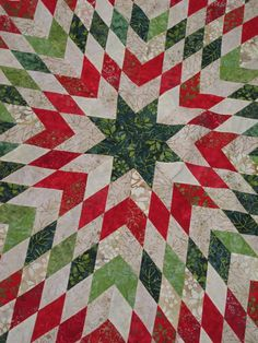 A red and white stunner using flannels. | Red, White & Green ... : red and green quilts - Adamdwight.com