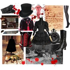 Gothic Lolita: Jack the Ripper, Polyvore set by gulag