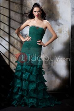 US$122.69 Elegant Mermaid Floor-Length Strapless Polina's Evening Dress. #Formal #Elegant #Floor-Length #Dress