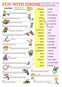 FUN WITH IDIOMS worksheet - Free ESL printable worksheets made by teachers