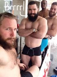 Canadian Bobsled Team - Justin Kripps, Tim Randall, James McNaughton, and Bryan Barnett.  Justin's website partially banned in Russia because of this photo???????