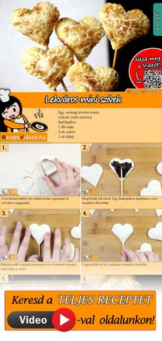 Mini jam hearts recipe with video. Detailed steps on how to prepare this easy and simple Mini jam hearts recipe! Healthy Diet Recipes, Cooking Recipes, Monkey Food, Easter Cake Pops, Valentines Day Food, Hungarian Recipes, Winter Food, Paleo, Diy Food