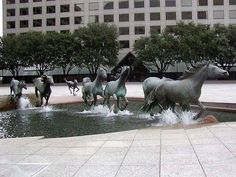 Amazing Things in the World A Water Fountain Creating the Illusion of Movement. Las Colinas, Texas