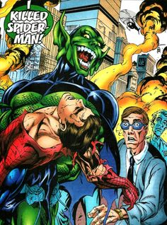 """The Green Goblin claims he killed Spider-Man in the """"Final Chapter"""" Spider-Man storyline Marvel Fan, Marvel Comics, The Superior Spider Man, Alien Ripley, George Perez, Star Wars Princess Leia, Spiderman Art, Green Goblin, Female Hero"""