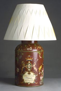 Picture of Hand Made Decoupage Grenville Lamp with Optional Shade