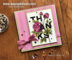 Stampin' Up! Floral Statements Stamp Set, Beautiful Watercolor, Petal Garden DSP, Find it at Stampin' Hoot! Stesha Bloodhart #stampinup #stampinhoot #floralstatements