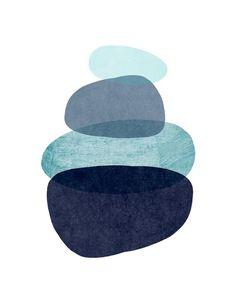 Abstract Art Print, Scandinavian Wall Art, Blue Abstract print, Giclee print, Wall Decor, Home Decor