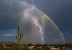 Photographer Captures a Rainbow and Lightning Bolt in One Incredible Shot - My Modern Met