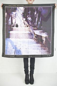 philippe roucou polaroid scarves