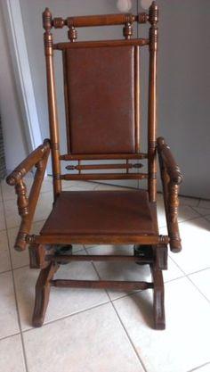 Antique Rocking Chair Antique Vintage Platform Rocker