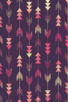 Ombre arrows phone wallpaper