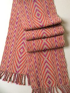 Supplementary Warp Weave by Mary Bentley, Cashmere, wool, 16 shafts