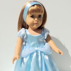 American Girl Doll Cinderella Dress.