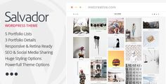 Salvador - Clean Portfolio Theme . Salvador has features such as High Resolution: Yes, Widget Ready: Yes, Compatible Browsers: IE9, IE10, IE11, Firefox, Safari, Opera, Chrome, Edge, Compatible With: Visual Composer 4.7.4, Bootstrap 3.x, Software Version: WordPress 4.6.1, WordPress 4.6, WordPress 4.5.x, WordPress 4.5.2, WordPress 4.5.1, WordPress 4.5, WordPress 4.4.2, WordPress 4.4.1, WordPress 4.4, WordPress 4.3.1, WordPress 4.3, Columns: 4+