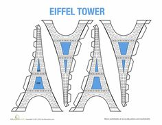 eiffel tower model template - the eiffel tower in the french classroom unlimited