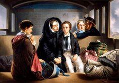 """Second Class, the Parting"", Abraham Solomon, ca. 1855; Southampton City Art Gallery 540"