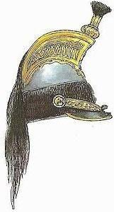 Casco de oficial de coracero de 1807