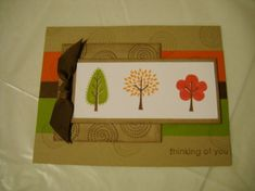 Trendy Trees by mstwin459 - Cards and Paper Crafts at Splitcoaststampers