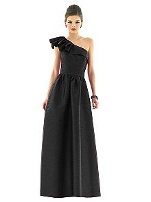 Alfred Sung #black #bridesmaid #dress this one short @Angie Wimberly Dominguez