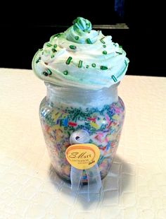 Handmade Natural Soy Cupcake Candle - Green Sprinkles (or Custom Order) by SIDStudios on Etsy