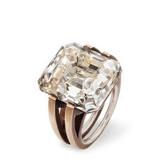 Diamond Ring with White Gold and Bronze by Hemmerle