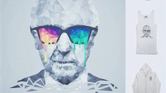Albert Hofmann - Psychedelic Portrait @threadless - Inspired at the rich art history i mixed the most classic type of art with modern methods.... !!!  Albert is back the great mind aka Mr. Hofmann, portraiture-ed in a unusual style. A Low poly triangle artwork at his best limits with melting Low Poly multicolor Nerd Glasses and a lot of details. One of my completed artworks ive ever done... sure weeks of works ^^  just let me know if u like this work like me :) dive in! and hold ur…