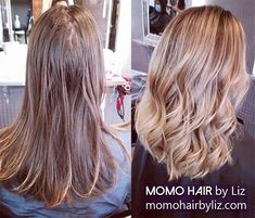 Nice touch, right? Ombre Highlights, Hair Color Balayage, Best Hair Salon, Perms, Cool Hair Color, Brown And Grey, Pink Purple, Salons, Cool Hairstyles