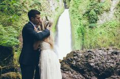 """Would you elope and say """"I do"""" in front of a waterfall? It is a romantic idea. We thought about, but in the end figured it would be a bit mean to allow only people who could manage a several mile hike and scramble over rocks to witness our ceremony. ;)"""