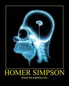 Homer Simpson Pea Brain Demotivational by SeekerArmada.deviantart.com on @deviantART