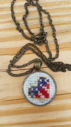 American flag heart necklace by mydisheveledducks on Etsy