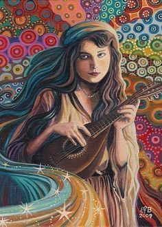 """""""The Muse of Music,"""" Emily Balivet, 2009 """"Think before you speak. Read before you think."""" — Fran Lebowitz ☮"""