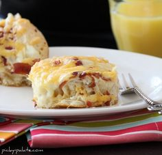 """""""Easy"""" Cheesy Bacon Biscuit Pull-Aparts --biscuits, butter, bacon, and cheese cheese, glorious cheese!"""