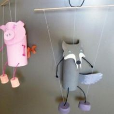 Toilet roll puppets :-)