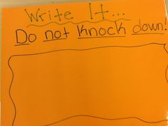 Do not knock it down to copy -side 1-Amy Fitzsimmons MISD