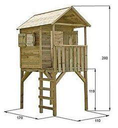 Stelzenhaus-2-Wahl-Spielhaus-Kinderhaus-Spielanlage-Kinderspielhaus-Garten-Holz