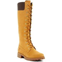 Timberland Premium Waterproof Zip Boot - Wide Width Available ($140) ❤ liked on Polyvore featuring shoes, boots, wheat, timberland shoes, timberland boots, lug sole boots, cuffed boots and platform boots