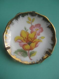 Vintage miniature Limoges France flowers and by AntiquesNejadStyle, $8.00