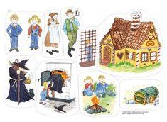 Hans och Greta, flanosaga är en klassisk traditionell folksaga av Bröderna Grimm. Berättelsen handlar om det goda och den onda, med lyckligt slut! Flannel Board Stories, Flannel Boards, Nursery Rhymes, Teaching Kids, Activities For Kids, Fairy Tales, Kindergarten, Paper Dolls, Preschool