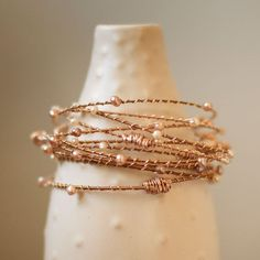 PRESERVE.us - Stone Bangles - Pink and White Pearl
