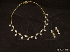 NS-1271-176 | IN CURVED FLOWERY DESIGNED AD NECKLACE SET