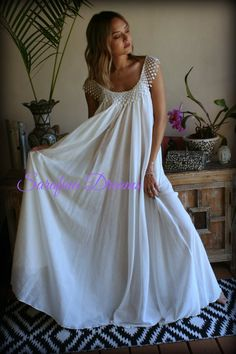 d57f377e328 Cotton Nightgown White Cotton Sleepwear Honeymoon Cotton Lingerie Bridal  Lingerie Venice Lace Nightgown Wedding Nightgown