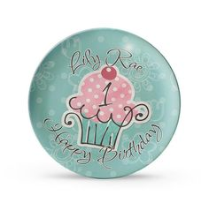Hey, I found this really awesome Etsy listing at https://www.etsy.com/listing/90473757/personalized-plate-cupcake-birthday