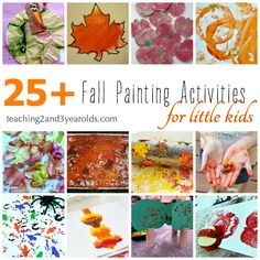 Fall Painting Activities for Preschoolers