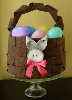 Burlap Easter Basket - How To