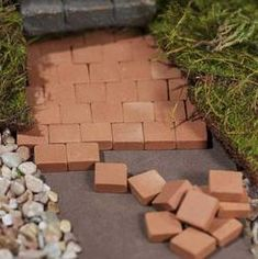 Miniature Kiln-Fired Patio Bricks for Patios, Paths and Pavers