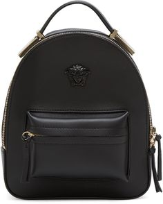 Versace - Black Mini Medusa Backpack Leather Backpack 15b671654191e